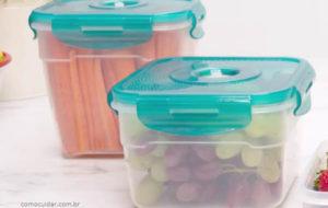 Como limpar recipientes e louça de plástico